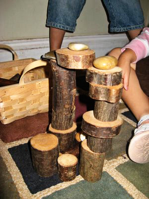 tree block construction play