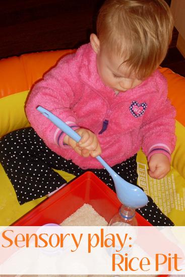 Rice pit sensory play