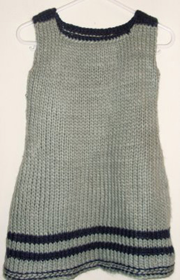Toddler knitted dress