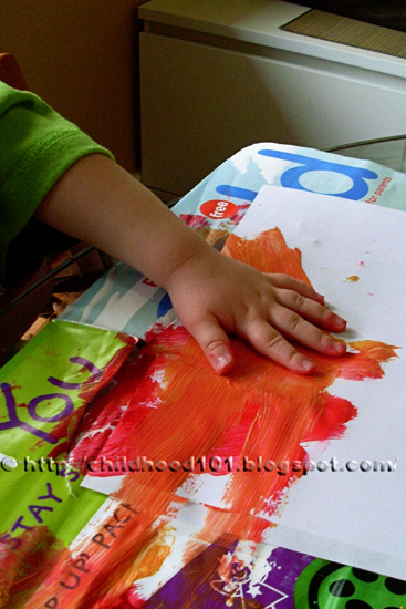 Painting for toddlers via Childhood 101