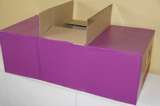 Play car from a cardboard box