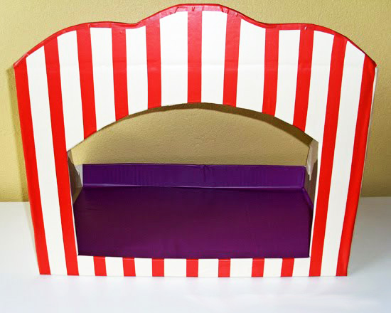 Make your own puppet theatre
