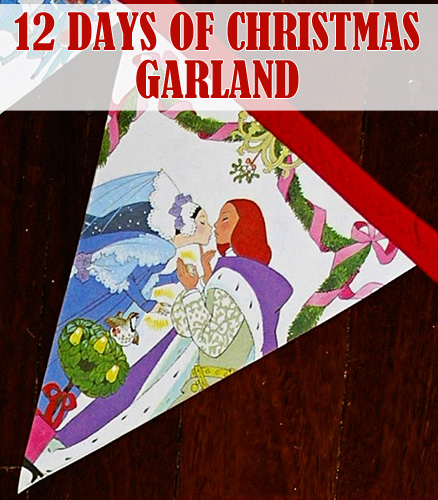 12 days of Christmas garland