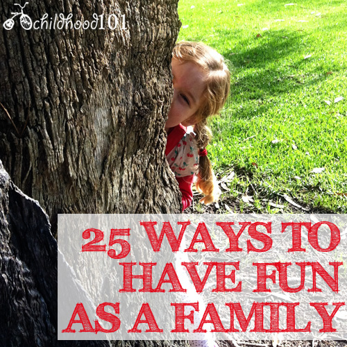 25 ideas for family activities
