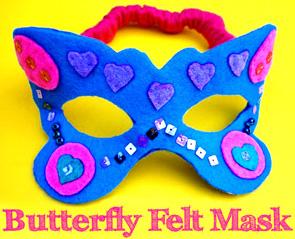 Butterfly felt mask | Childhood 101