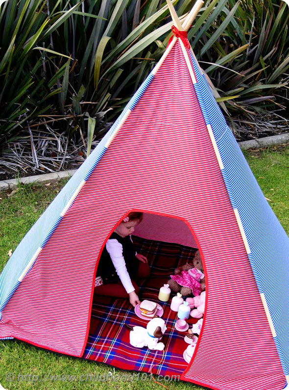Childhood 101 Teepee Project- DIY Teepee Pattern