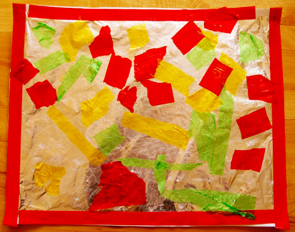 Preschool Art_Foil and Tissue Paper Collage | Childhood 101
