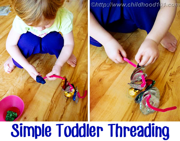 Childhood 101   Simple Toddler Threading Activity