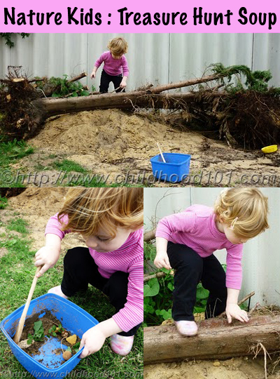 Outdoor play - treasure hunt soup