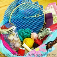 Toddler Friendly Sewing Basket. Great for toddlers and preschoolers.