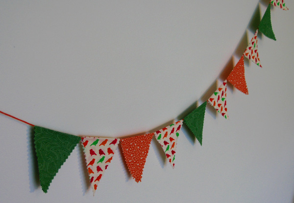 Let's Celebrate SPRING: No Sew Fabric Bunting