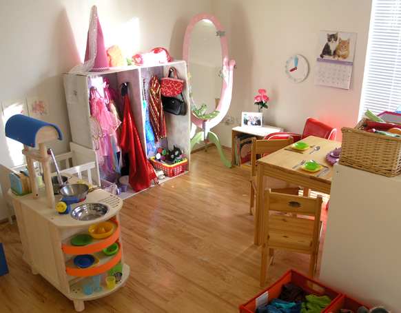 Pretend Play in Our Home Corner Play Space