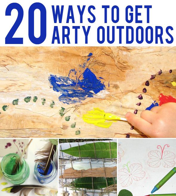 Art projects for kids_Taking art outdoors