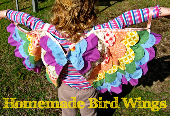 Homemade bird wings costume | Childhood 101