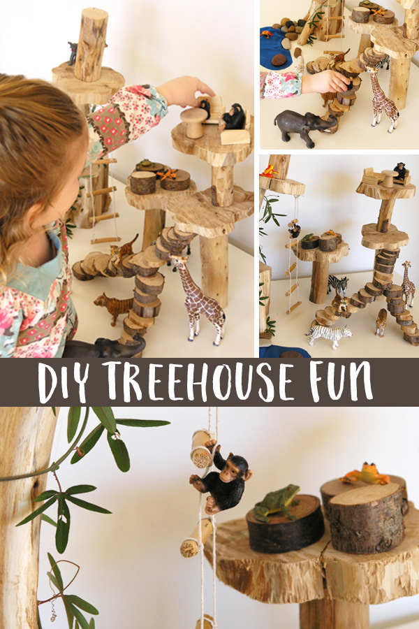 How to make a treehouse as a dollhouse alternative for pretend play