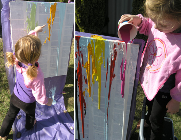 Childhood 101 | Kids Art Ideas: Drip Painting