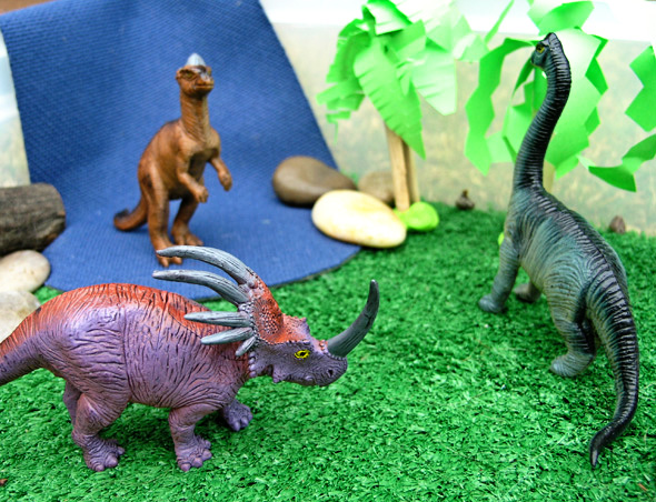 Small world dinosaur play from Childhood 101