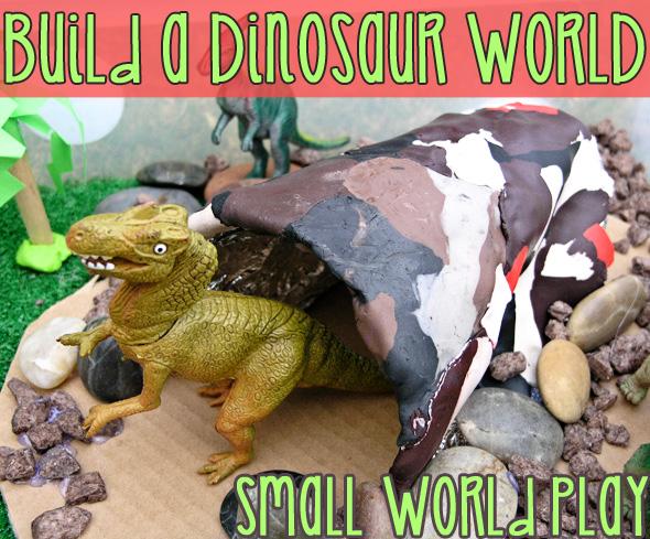 Small world dinosaur play