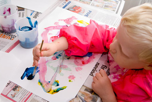 preschool painting experiences