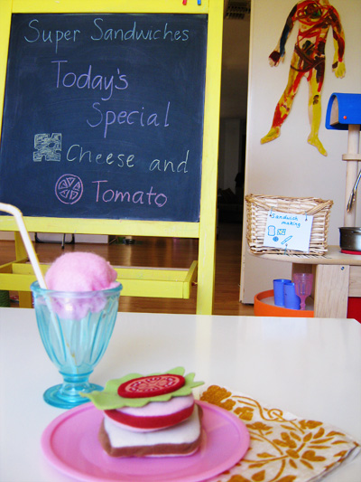 sandwich shop literacy play ideas