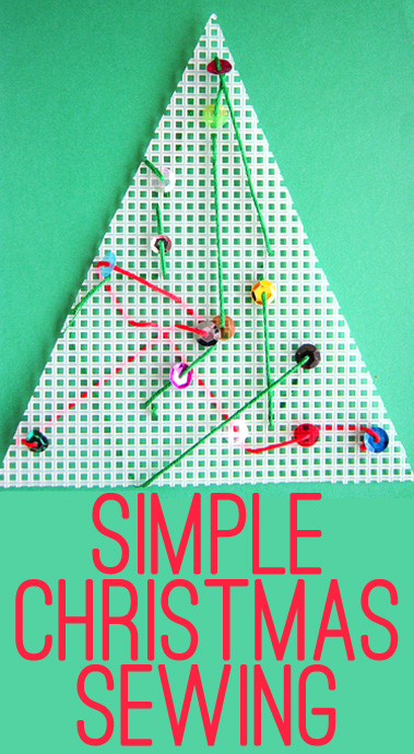 simple christmas sewing activity for kids - Simple Christmas