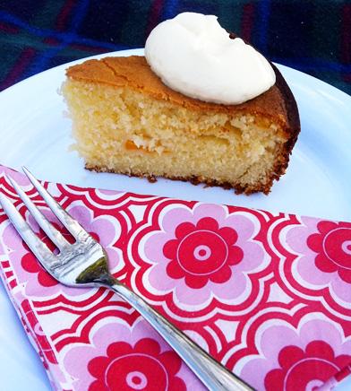 peach and yoghurt cake recipe