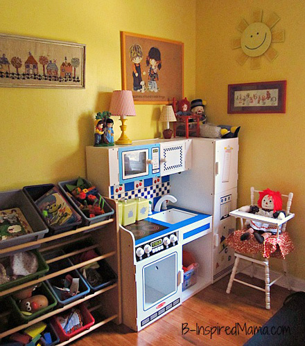 our play space priscillas vintage thrift inspired play space - Bedroom Play Ideas