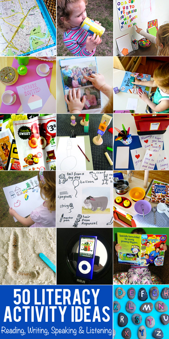 50 Early Literacy Actitivy Ideas