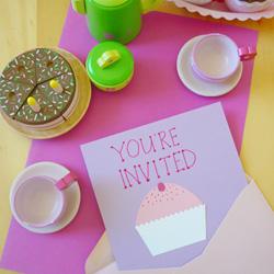 literacy play party invitations
