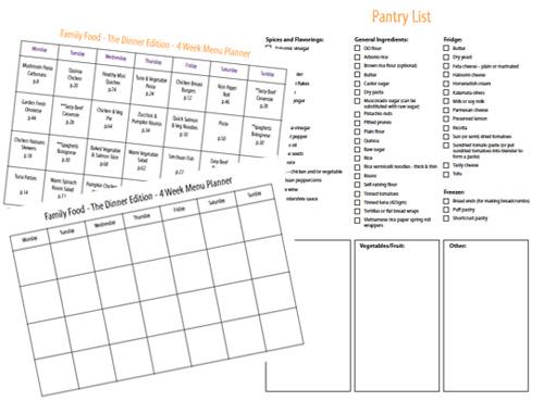 family food menu planning