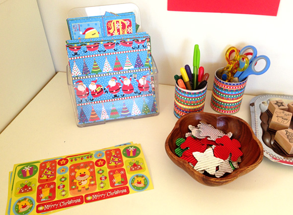 CHRISTMAS CARD MAKING WITH KIDS
