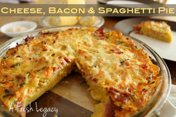 Spaghetti Bacon Pie
