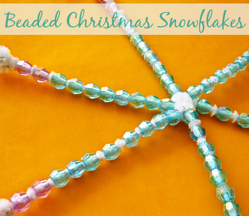 Homemade christmas decorations: Beaded Snowflake
