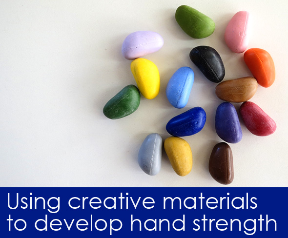 Using Creative Materials to Develop Hand Strength
