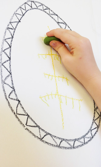 fine motor development using vertical surfaces