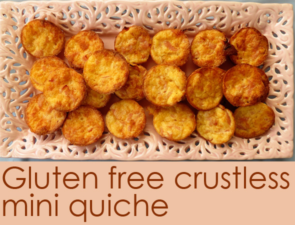 Post image for Gluten Free Crustless Mini Quiche
