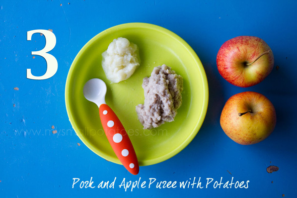 homemade baby food pork and apple puree recipe