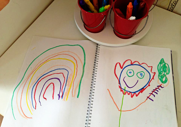 Tips for storing kids artwork