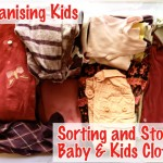 Sorting and storing kids clothes
