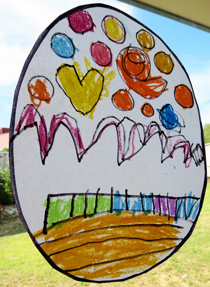 Kids Art Ideas Stained Glass Effect Drawings