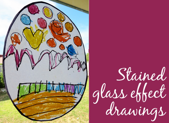 Kids Art - Stained glass drawings