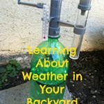Children and nature - learning about weather - outdoor science activities