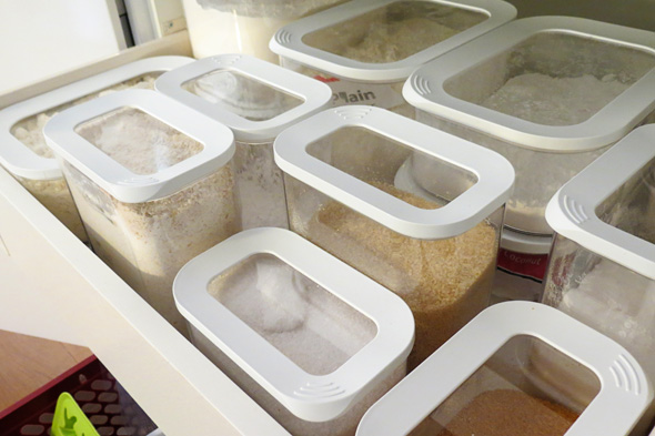 pantry organisation canisters