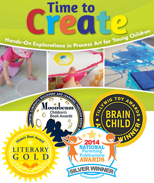 Time to Create: Awesome hands on process art book for kids. Won four awards.
