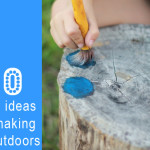 10 easy ideas for making art outdoors with kids
