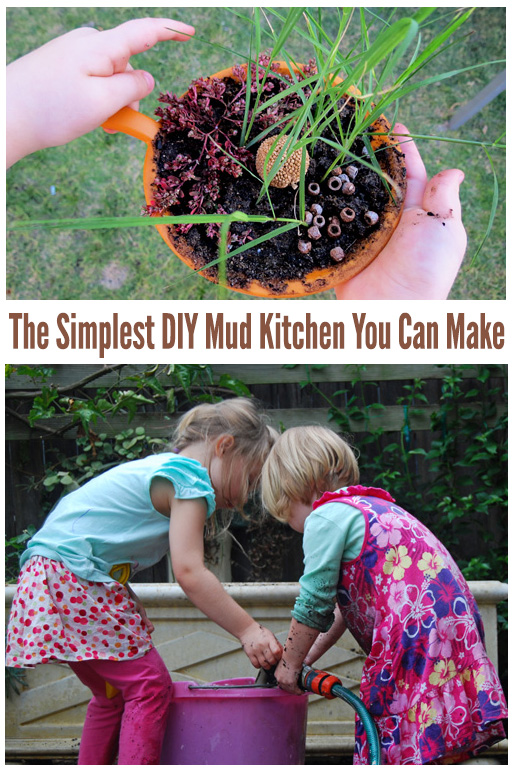The Simplest DIY Mud Kitchen You Can Make
