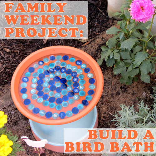 FAMILY WEEKEND PROJECT How to Make a Bird Bath