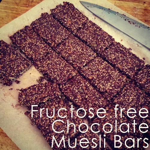 Fructose free chocolate muesli bar recipe