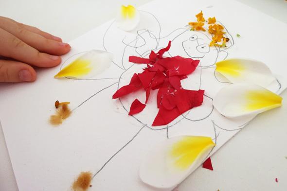 Kids art and nature ideas - flower fairies