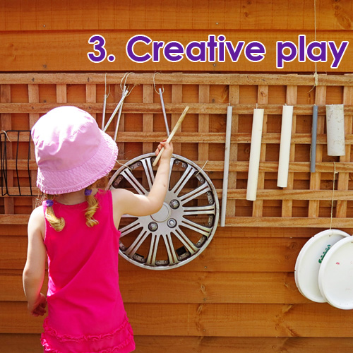 Outdoor Play Spaces - creative play ideas